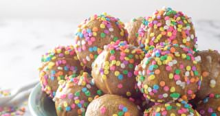 Baked Vanilla Funfetti Donut Holes