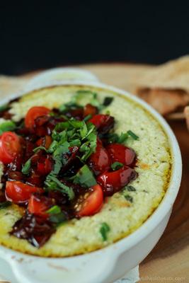 Creamy Baked Goat Cheese Dip | Joyful Healthy Eats