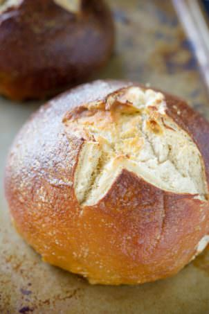 This Fool Proof Homemade Pretzel Bread has a salty and crispy crust with a tender inside! Making it the perfect bread for sandwiches or for dunking into your favorite cheese sauce!