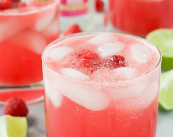 Fresh Raspberry Watermelon Margaritas