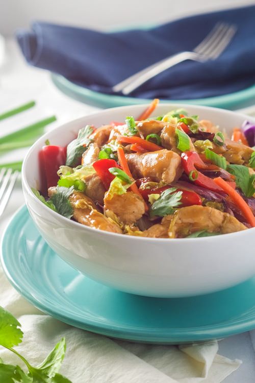 Honey Sriracha Chicken Rice Noodle Bowls   With Salt and Wit