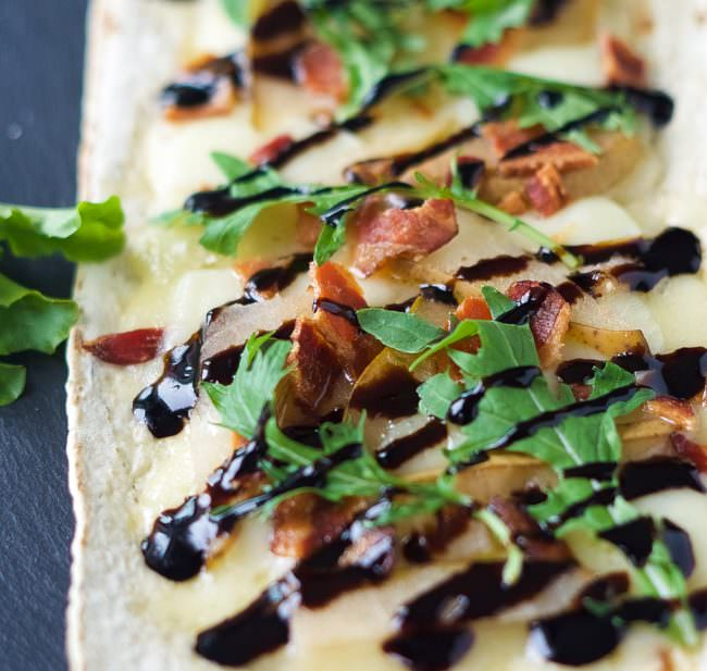 ... pear brie and bacon flatbread pear brie and bacon flatbread are a