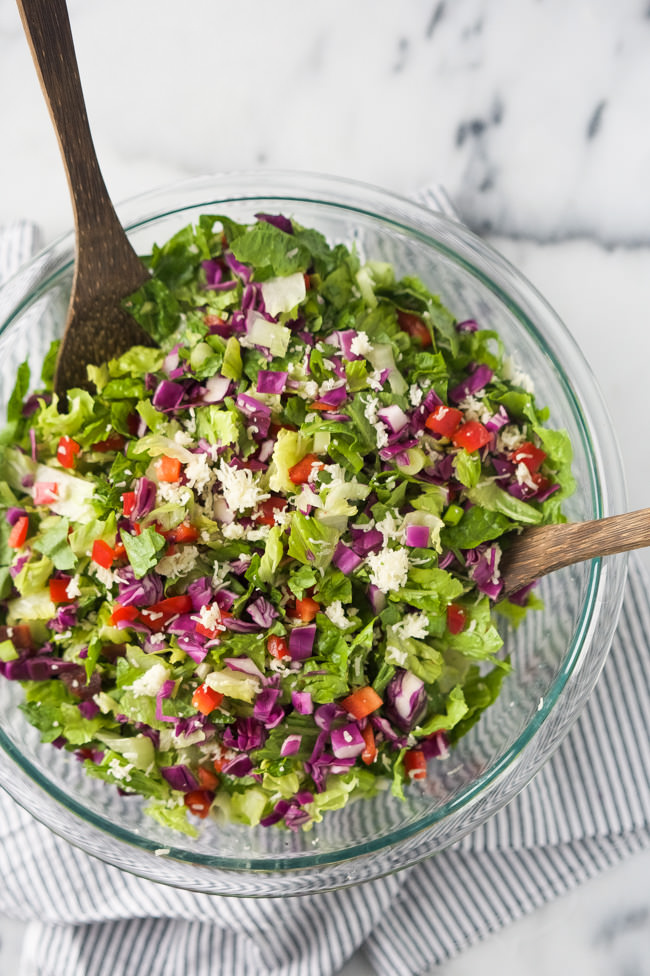 White Cheddar and Bacon Chopped Salad