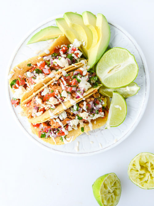Easy Weeknight Chicken Tacos | How Sweet Eats