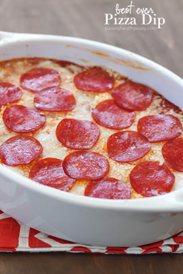 Best Ever Cheesy Pizza Dip | Yummy Healthy Easy