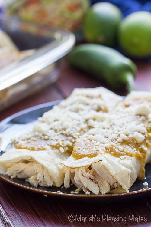 Roasted Verde Chicken Enchiladas | Mariah's Pleasing Plates