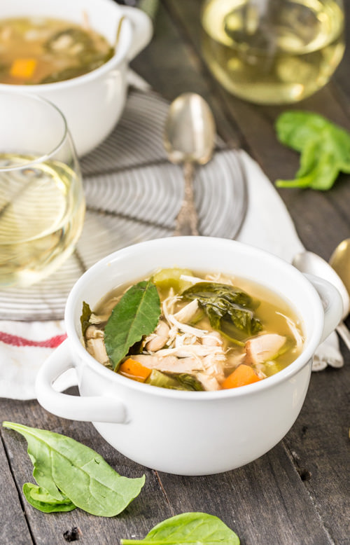 Crock Pot Tuscan Chicken Soup | The Cookie Rookie