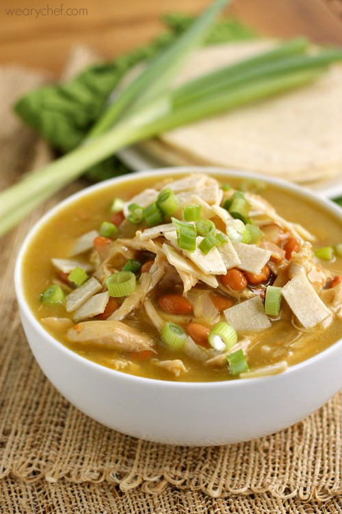 Green Chicken Enchilada Soup | The Weary Chef