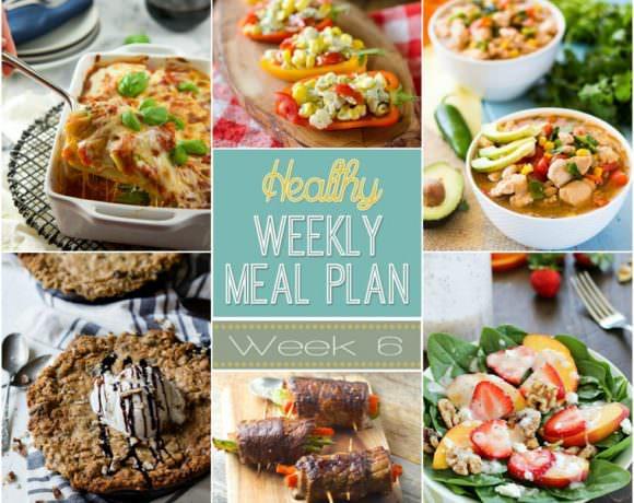 Healthy Meal Plan Week #6