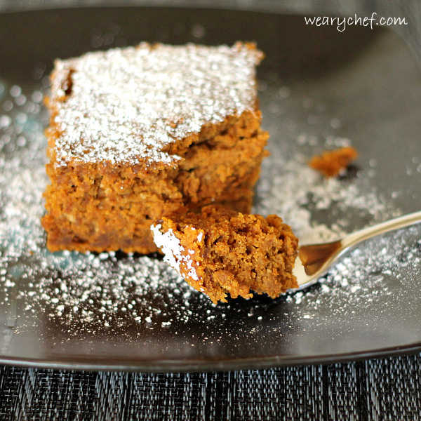 Three Ingredient Spiced Rum Pumpkin Cake | The Weary Chef
