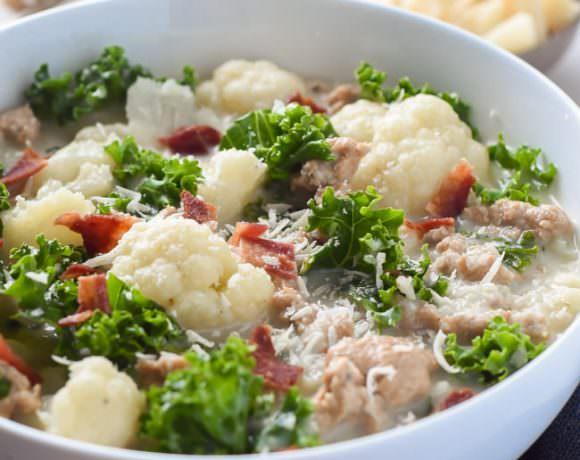 30 Minute Skinny Zuppa Toscana Soup