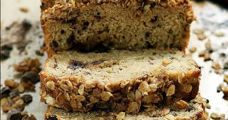 Dark Chocolate Chunk Banana Bread with Oatmeal Streusel