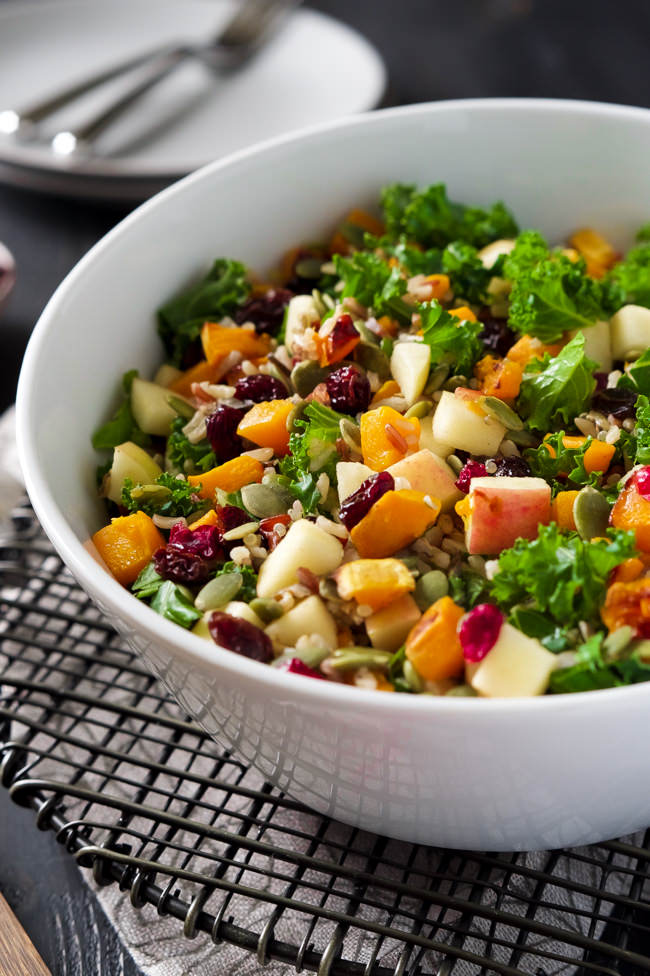 Fall Harvest Salad With Apple Cider Vinaigrette Dressing