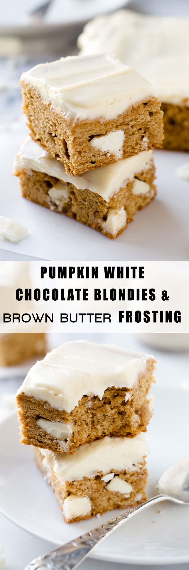 Pumpkin Spice White Chocolate Blondies