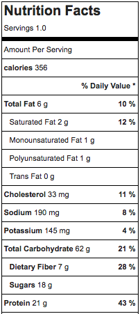 Cinnamon Bun Overnight Oats Nutritional Information