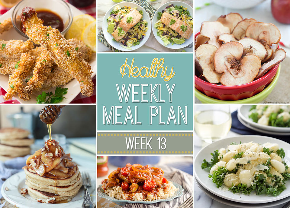 Need new meal ideas? Check out our Healthy Weekly Meal Plan #10 that's full of healthy apple pancakes for breakfast, lunch & Creamy Garlic Parmesan Gnocchi for dinner recipes just for you - plus snack & dessert recipes too!