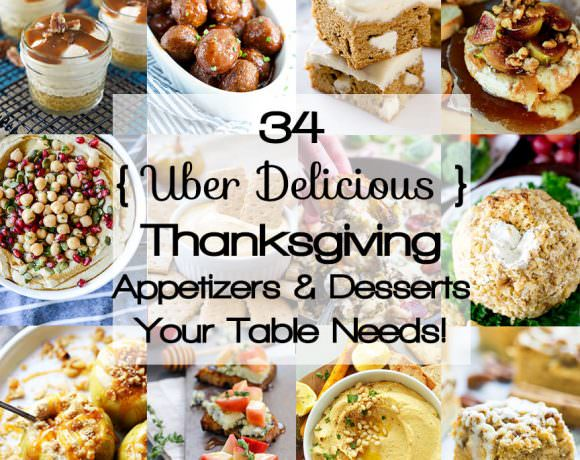 Delicious Healthy Thanksgiving Appetizers & Desserts