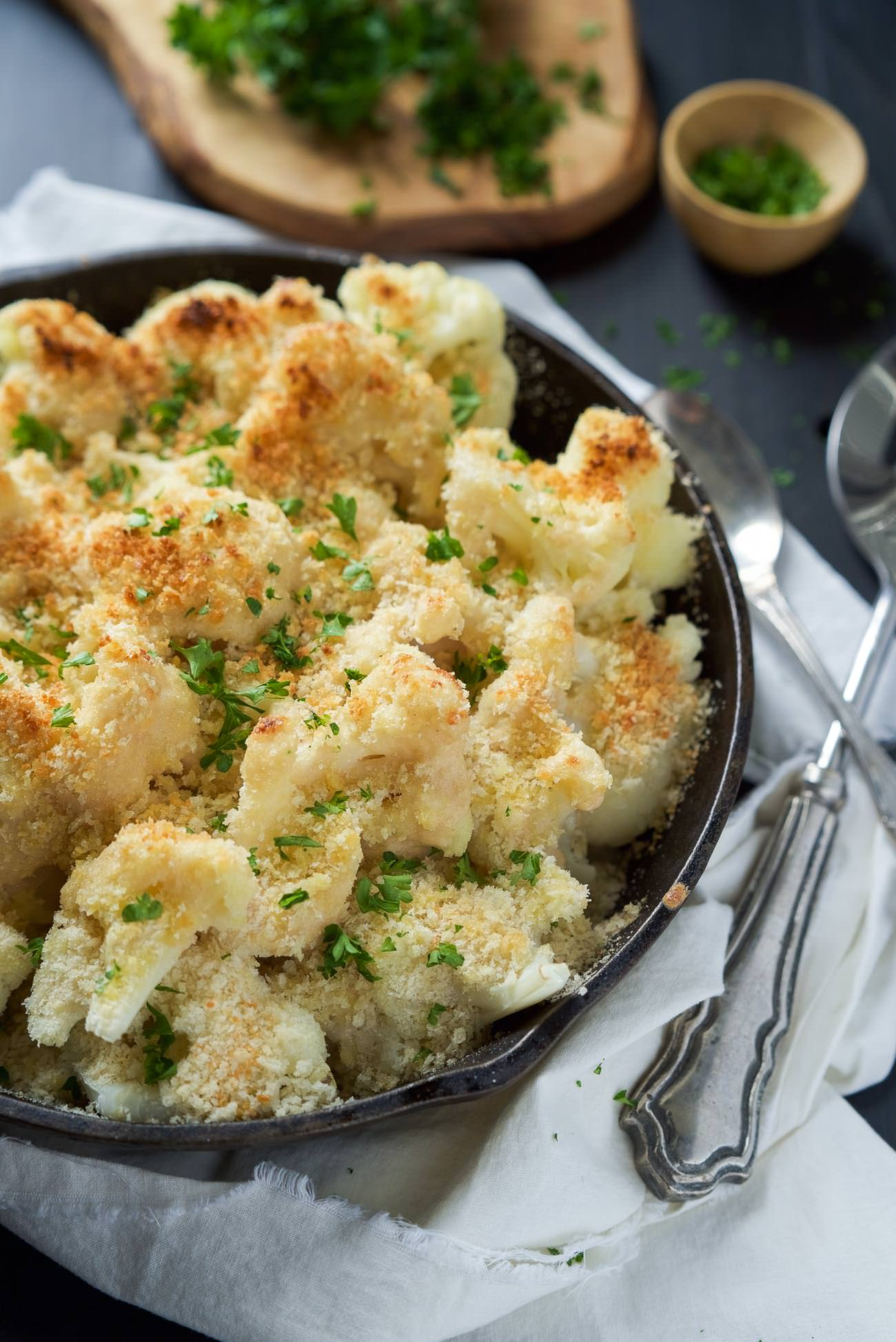 Cauliflower Gratin With Sharp Cheddar And Parmesan Recipe ...