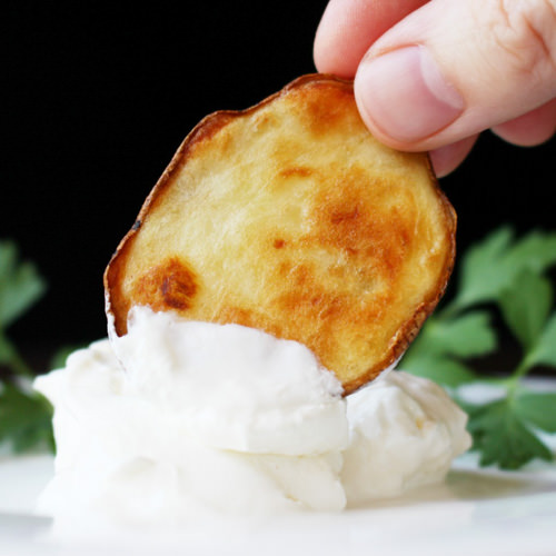Olive Oil and Sea Salt Oven-Roasted Crispy Potato Rounds | Recipe for Perfection