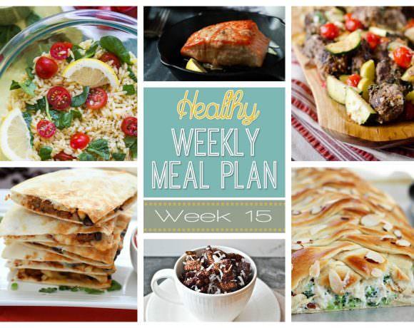Healthy Meal Plan Week #15
