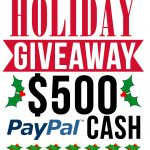 Need some extra dough for the holidays?! Thought so! Enter the $500 PayPal Cash Holiday Giveaway - Ends 12/7