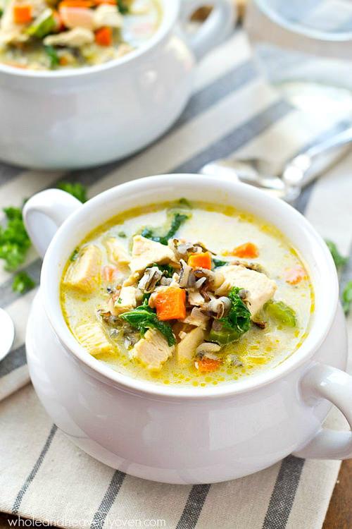 Creamy Leftover Turkey Wild Rice Soup is xxtra-creamy and loaded with wild rice, turkey, and plenty of comfort!