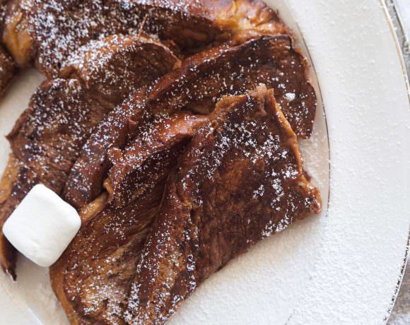 Dark Hot Chocolate French Toast