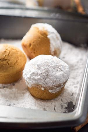 These Eggnog Donut Muffins are light and fluffy like cake donuts plus filled with the delicious flavor of eggnog. The perfect breakfast treat during the holidays!