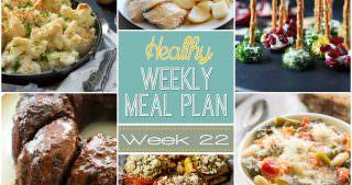Healthy Menu Plan Week #22