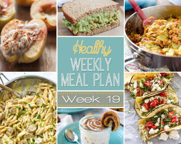Healthy Weekly Meal Plan #19