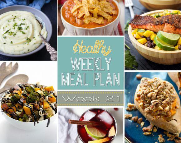 Healthy Menu Plan Week #21