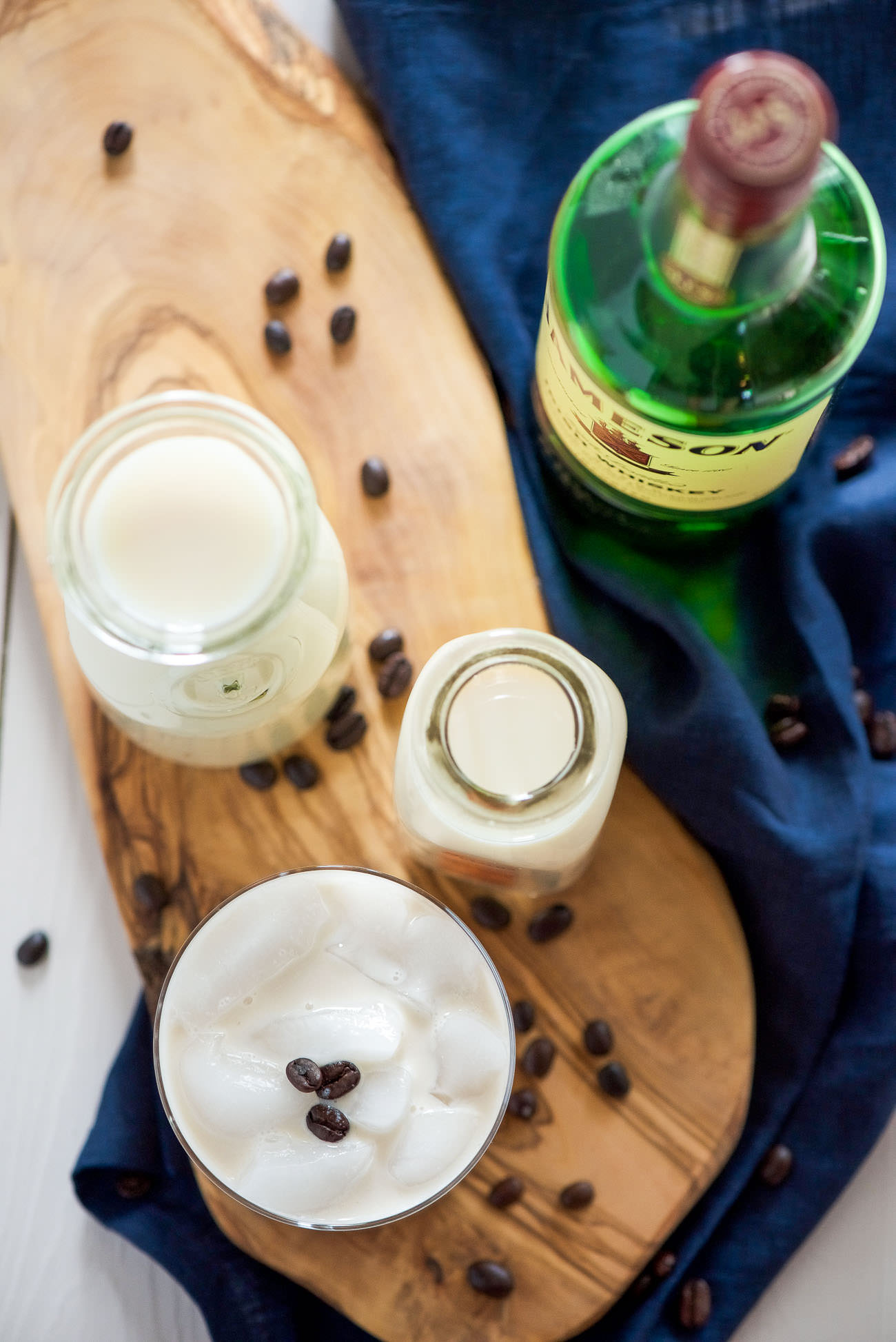 This is simply the best Homemade Baileys Irish Cream! It is perfectly sweet, smooth and a slight whiskey kick. Whip up a batch and add a splash to your morning coffee or over ice to end a long day!