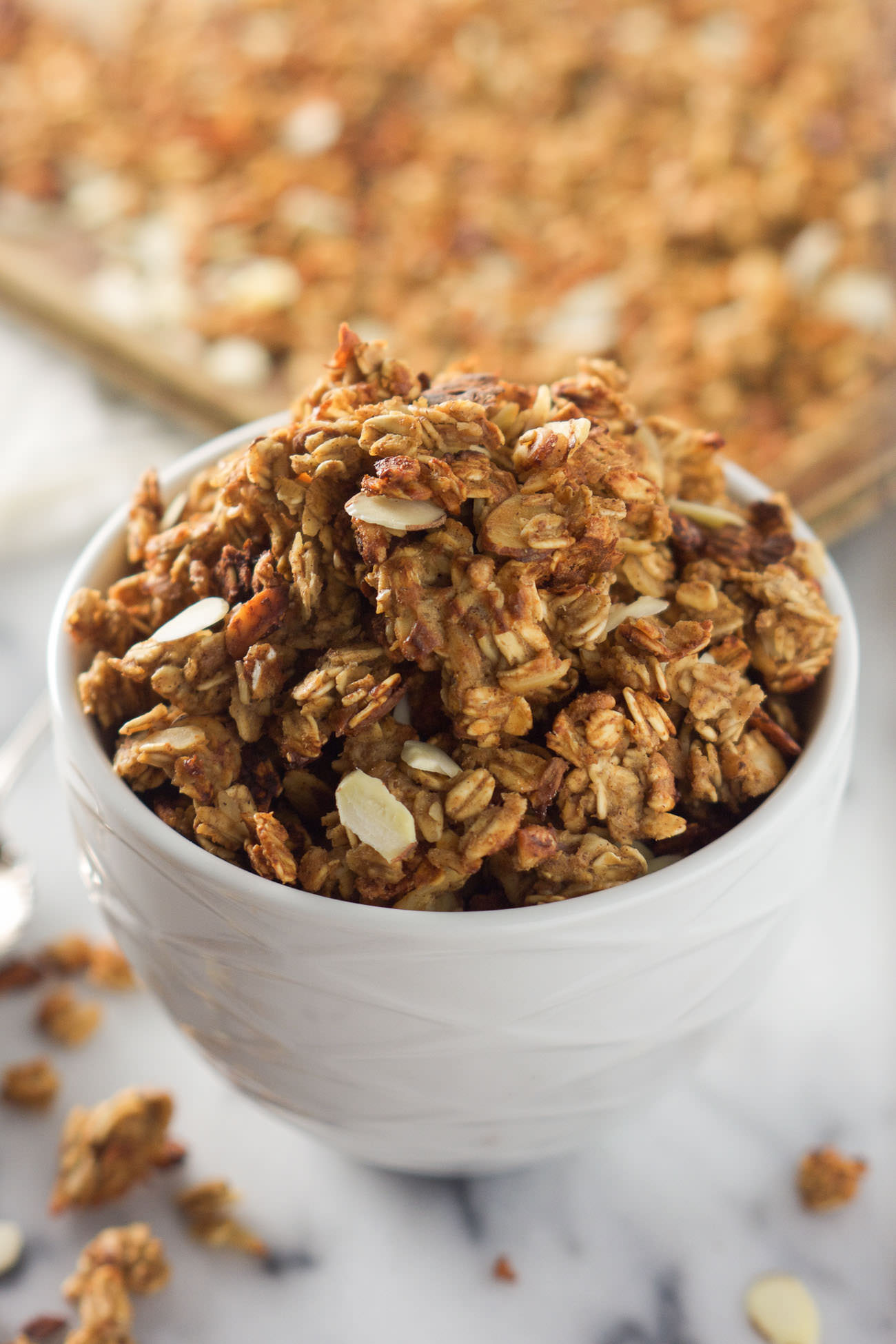 Vanilla Almond Macaroon Granola is a blend of toasted coconut, almonds ...