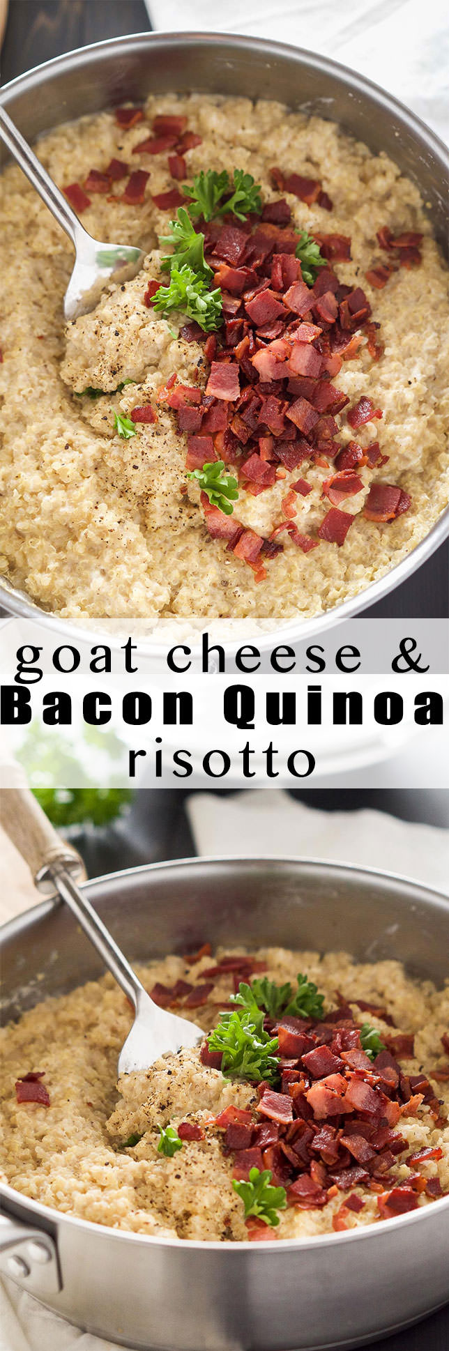 Goat Cheese & Bacon Quinoa Risotto - With Salt and Wit