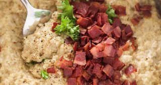 Goat Cheese & Bacon Quinoa Risotto