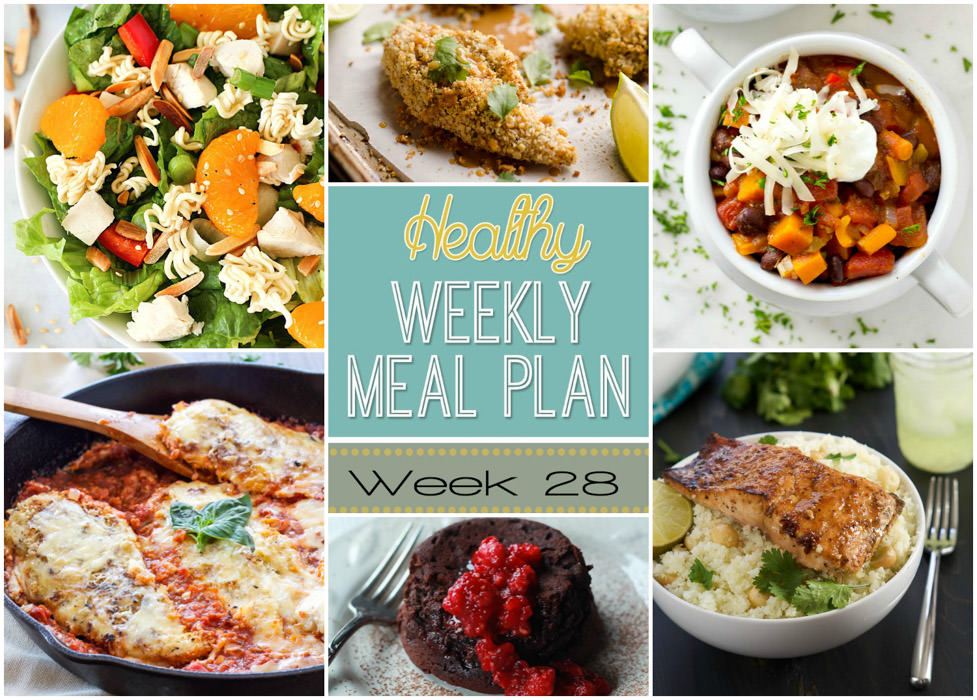 Get ready for another awesome Healthy Weekly Meal Plan! We've collected tons of great recipes to share with you this week, like 30 Minute Chicken Enchiladas to Chipotle Glazed Salmon that you are absolutely going to love.