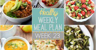 Healthy Menu Plan Week #23