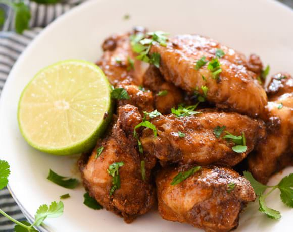 Honey Chipotle Crispy Baked Wings