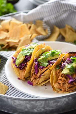 Slow Cooker Honey Chipolte Chicken Tacos-2