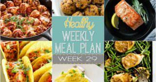 Healthy Meal Plan Week #29