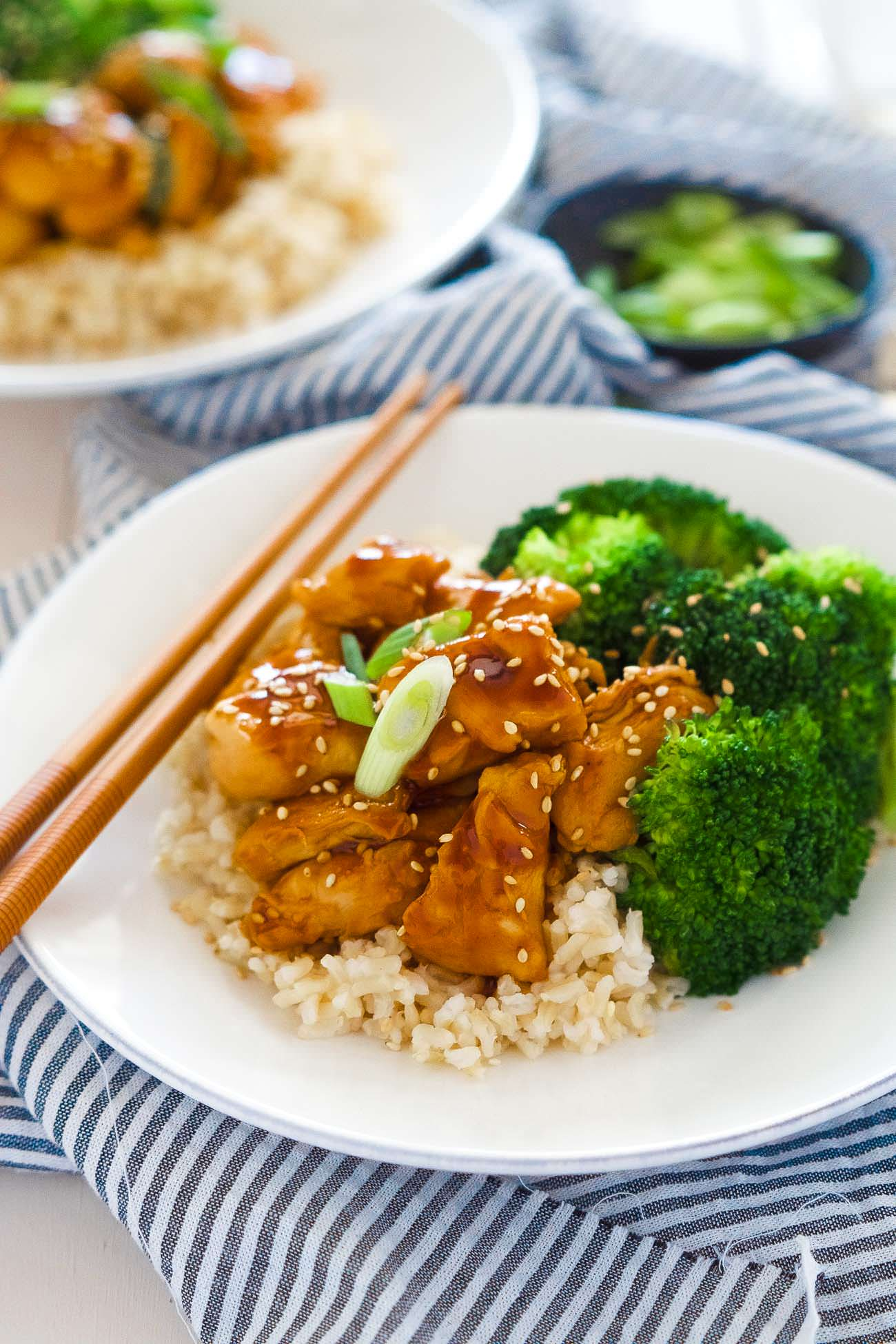 These delicious Skinny Honey Teriyaki Chicken Rice Bowls are a super ...