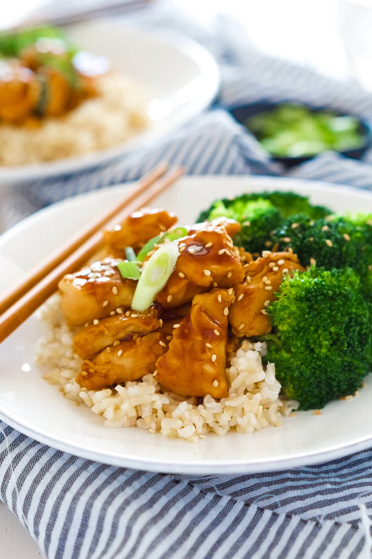 Honey Teriyaki Chicken Bowls are a super quick dinner! Tender chicken ...
