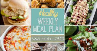 Healthy Meal Plan Week #30