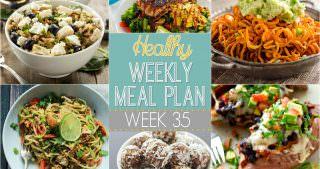 Healthy Meal Plan Week #35
