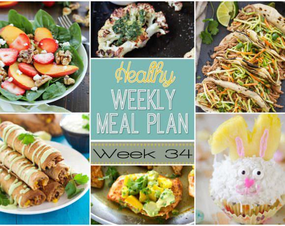 Healthy Meal Plan Week #34