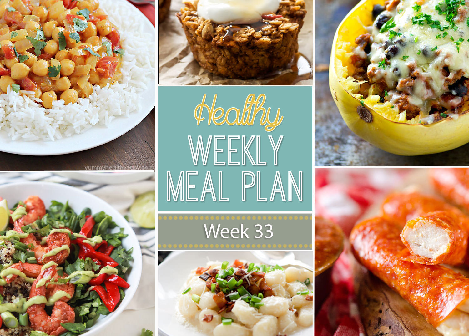 Healthy Meal Plan Week #33