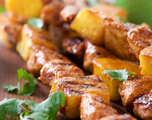 Grilled Huli Huli Chicken Kabobs