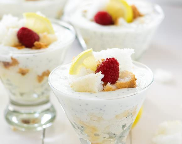 Lemon Poppy Seed Angel Food Cake Trifles