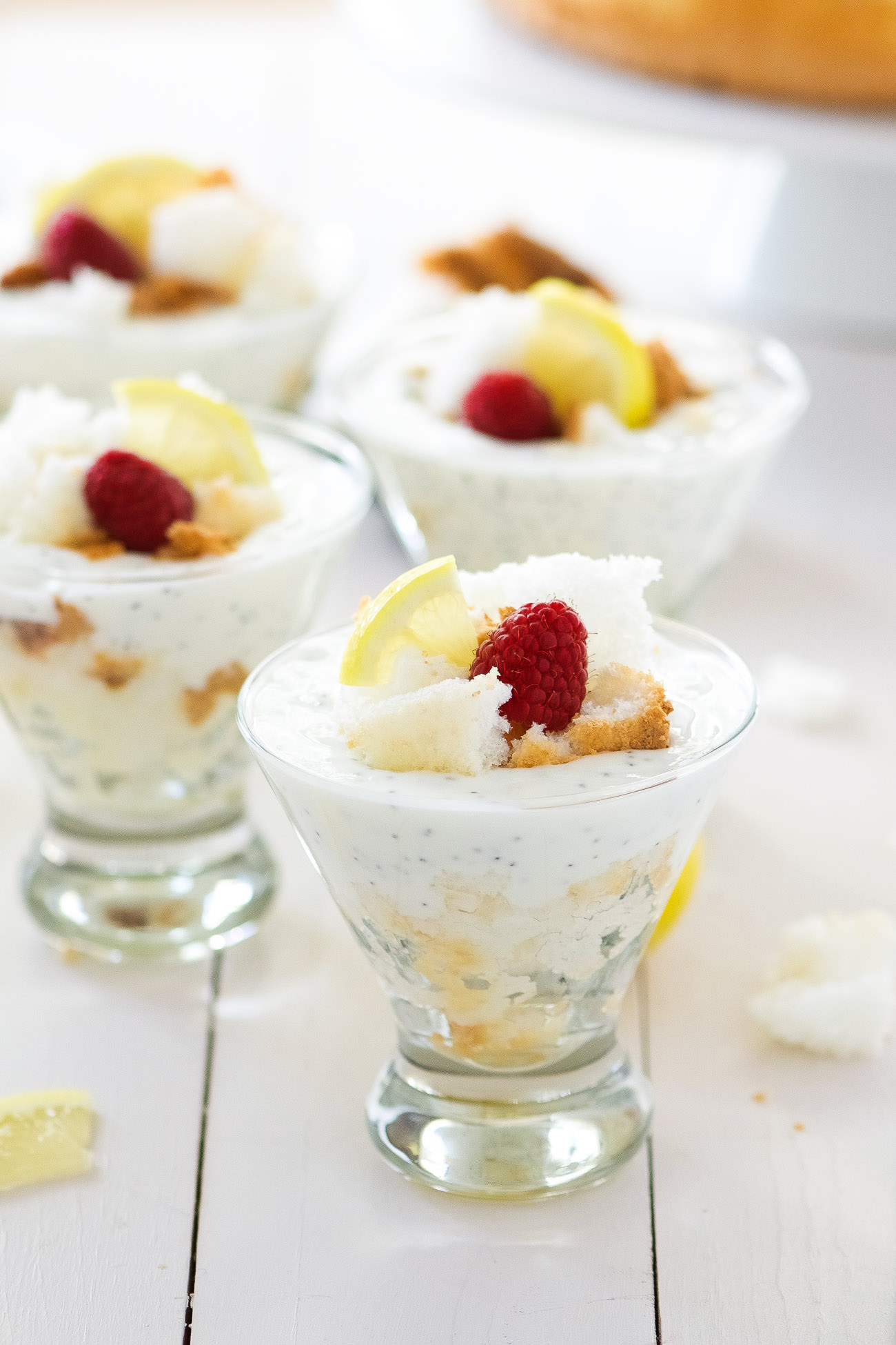 Lemon Poppy Seed Angel Food Cake Trifles With Salt And Wit