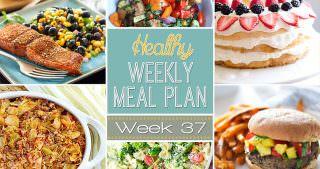 Healthy Meal Plan Week #37
